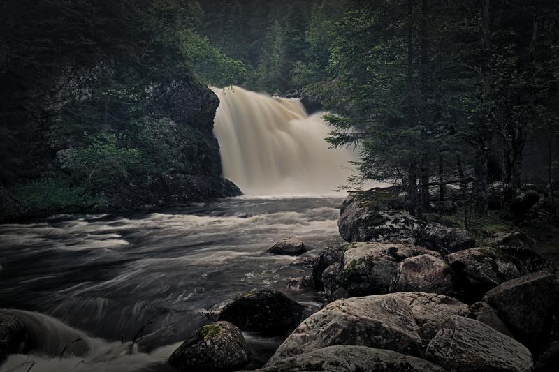 Wasserfall in der Nähe von Trondheim