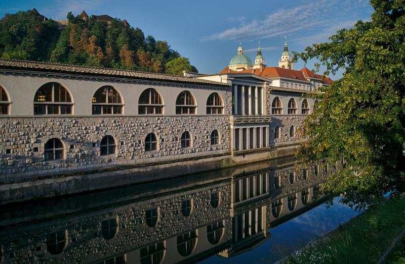 Spiegelung in Ljubljana
