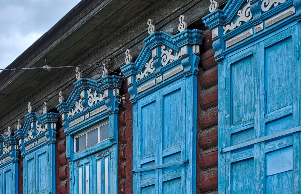 Typische sibirische Holzverzierung, wie man sie überall finden kann. Hier in Ulan Ude.