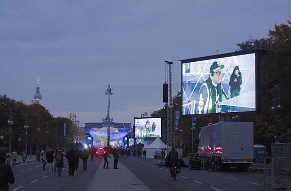 Vorbereitungen zur Feier 30 Jahre Mauerfall am Brandenburger Tor
